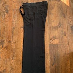 BCBGMAXAZRIA Wide Leg Pleated Black Pant